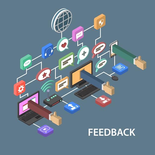 Conceito de feedback de suporte Vetor grátis