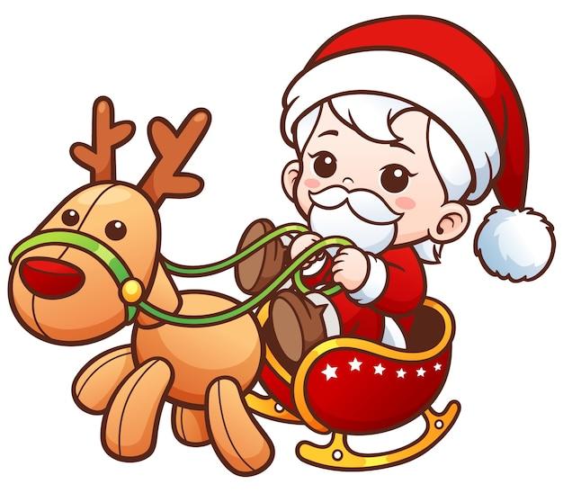 Conceito De Feliz Natal Santa Bebe Fofo Dos Desenhos Animados