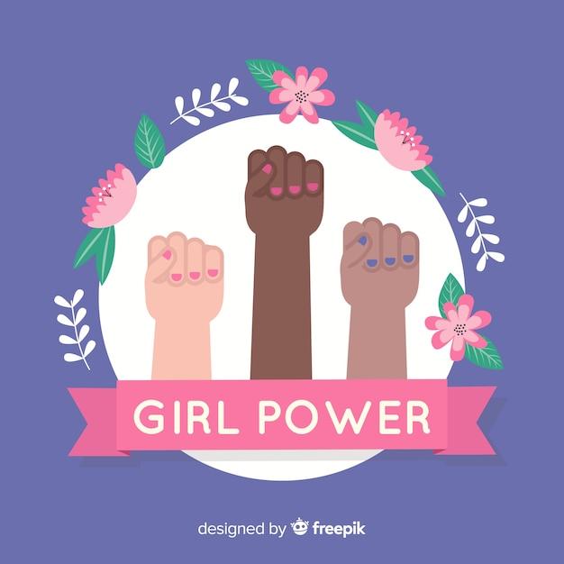 Conceito de feminismo moderno com design plano Vetor grátis