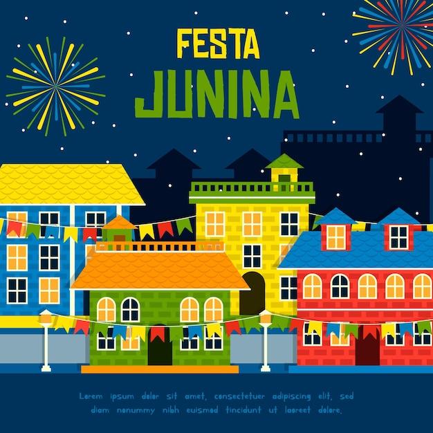 Conceito de festa junina Vetor grátis