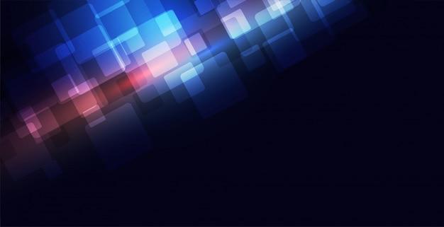 Conceito de fundo azul tecnologia com espaço de texto Vetor grátis
