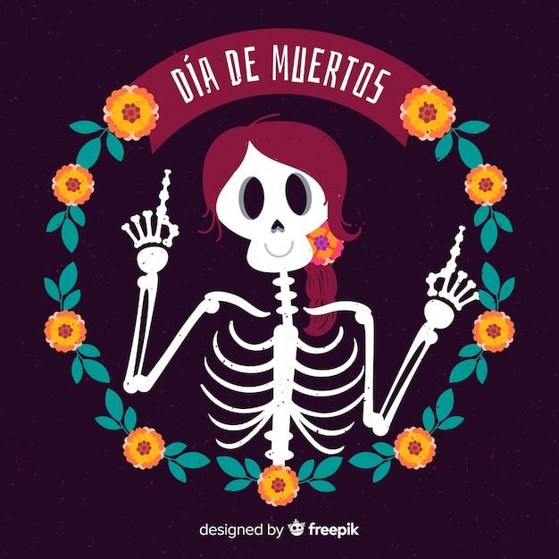 Conceito de fundo criativo dia de muertos Vetor grátis