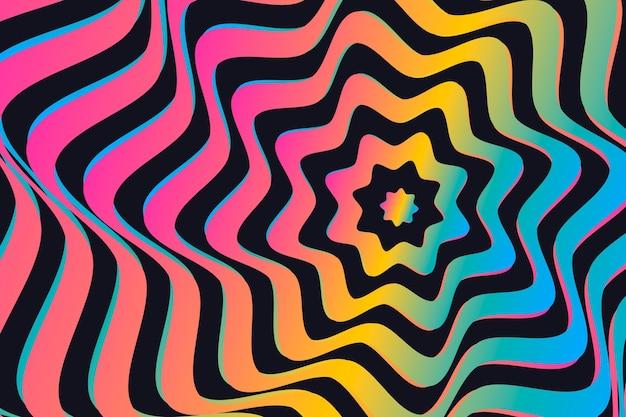Conceito de fundo de ilusão de ótica psicodélico Vetor grátis
