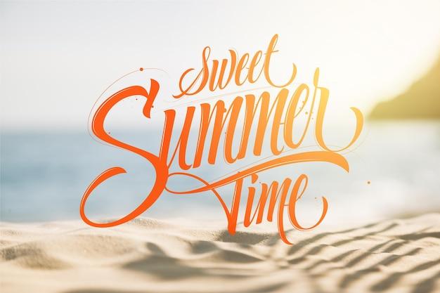 Conceito de fundo de letras de verão Vetor grátis