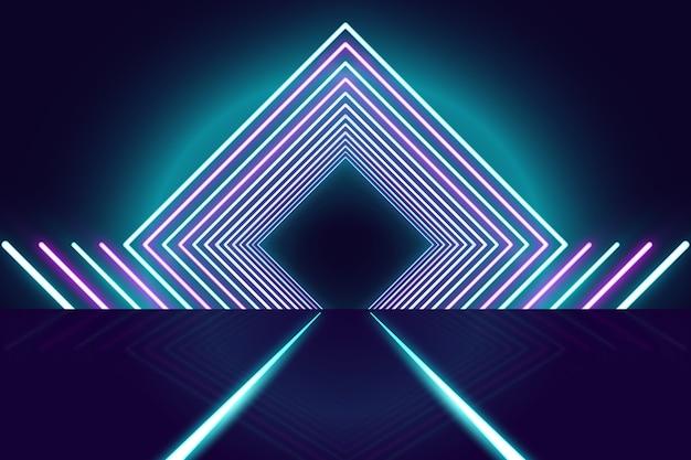 Conceito de fundo de luzes de néon Vetor Premium