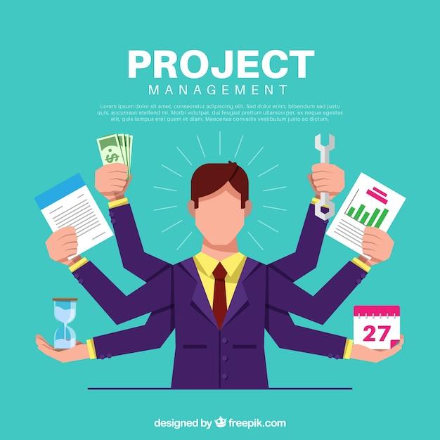 Conceito de gerenciamento de projetos Vetor grátis