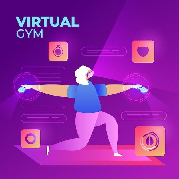 Conceito de ginásio virtual Vetor grátis