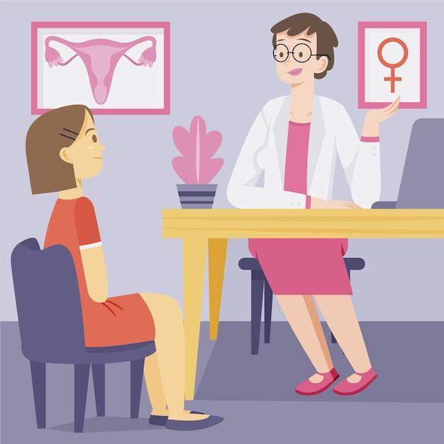 Conceito de ginecologia com médico Vetor grátis