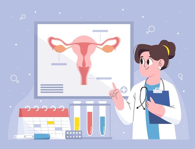 Conceito de ginecologia Vetor grátis