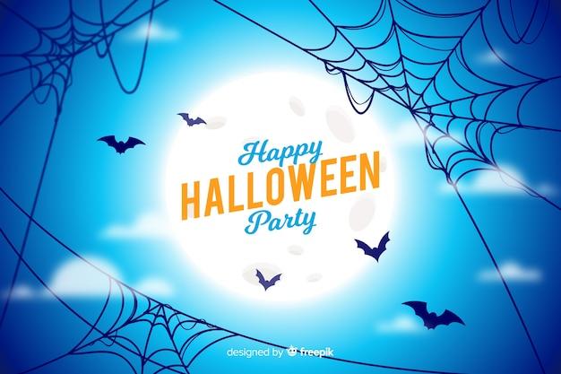 Conceito de halloween com fundo realista Vetor grátis