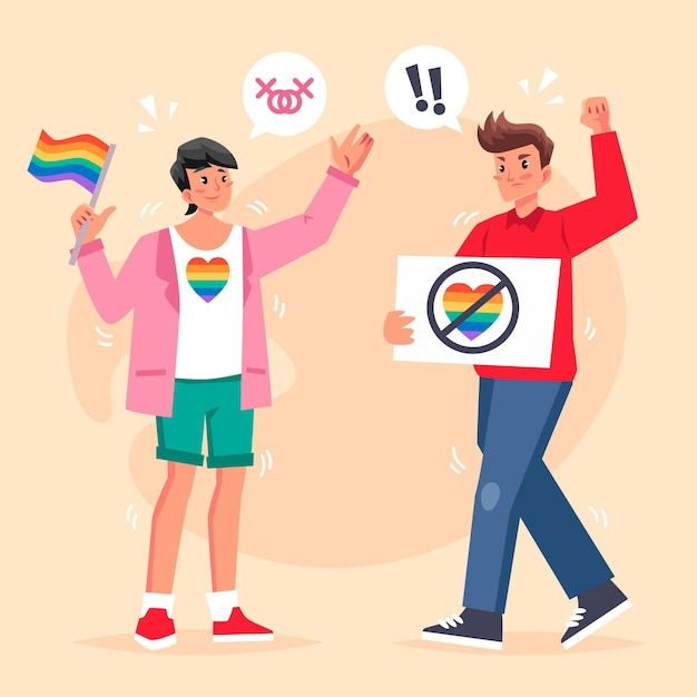 Conceito de homofobia Vetor grátis