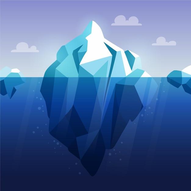 Conceito de iceberg de design plano Vetor grátis