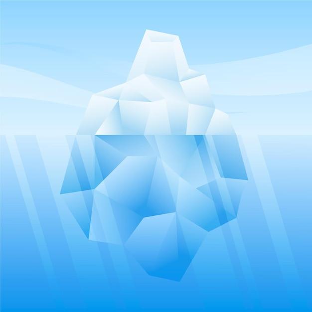 Conceito de iceberg no mar Vetor grátis