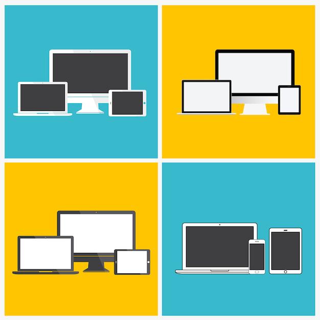 Conceito de ícone de dispositivo digital de tecnologia Vetor grátis