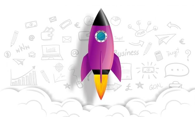 Conceito de ideia de negócio de inicialização Vetor Premium