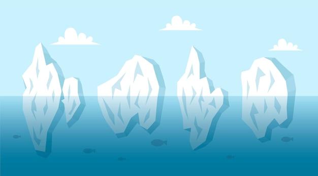 Conceito de ilustração de coleção de iceberg Vetor grátis
