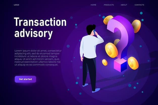 Conceito de ilustração de consultoria de transação. Vetor Premium