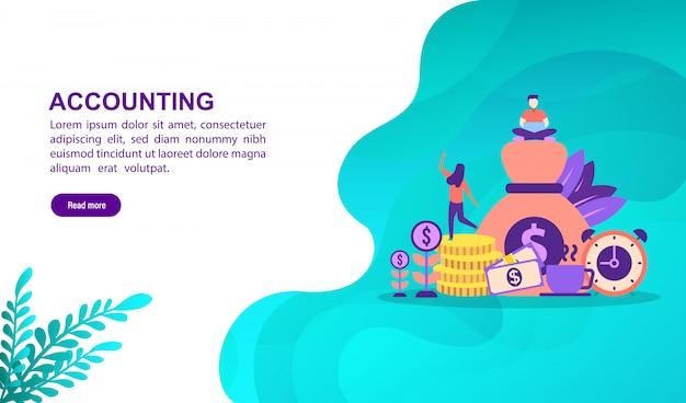 Conceito de ilustração de contabilidade Vetor Premium