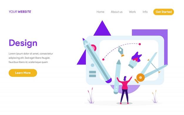 Conceito de ilustração de design Vetor Premium