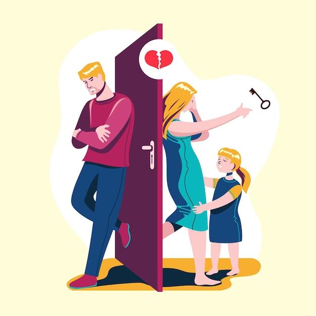 Conceito de ilustração de divórcio Vetor grátis