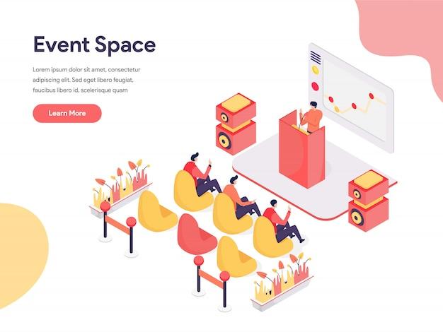 Conceito de ilustração de espaço de evento Vetor Premium