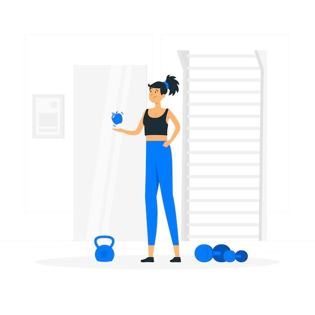 Conceito de ilustração de hábito saudável Vetor grátis