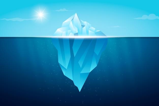 Conceito de ilustração de iceberg Vetor grátis