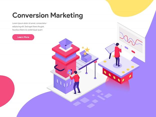 Conceito de ilustração de marketing de conversão Vetor Premium