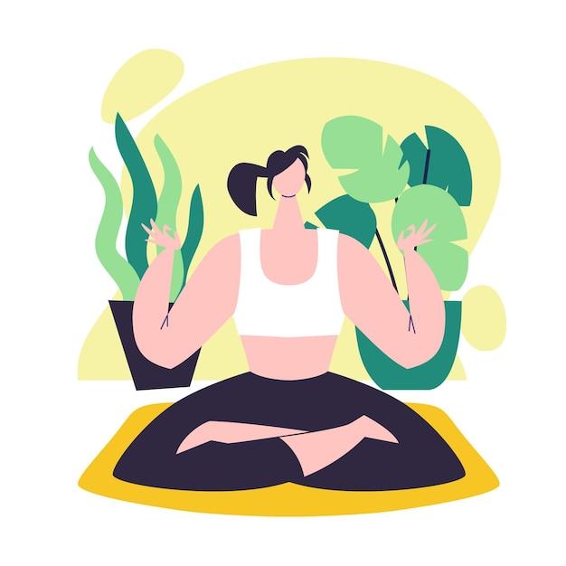 Conceito de ilustração de meditação Vetor grátis