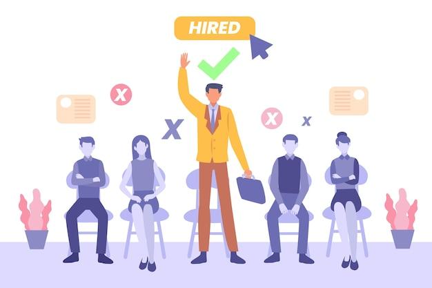 Conceito de ilustração de recrutamento Vetor Premium