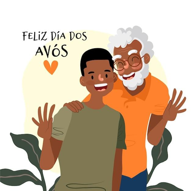 Conceito de ilustração dia dos avós Vetor grátis