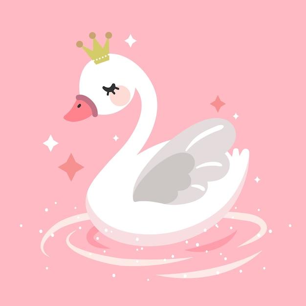 Conceito de ilustração princesa cisne Vetor grátis