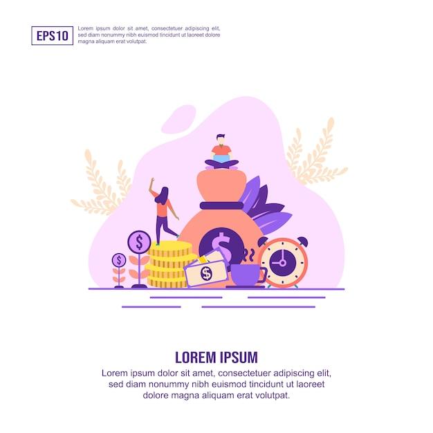 Conceito de ilustração vetorial de contabilidade Vetor Premium