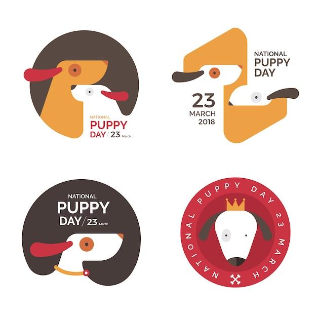Conceito de ilustrações dia nacional do cachorrinho. ilustrar. Vetor Premium