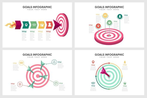 Conceito de infográfico de objetivos Vetor grátis