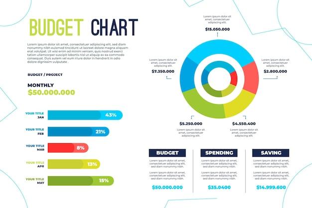 Conceito de infográfico de orçamento Vetor grátis
