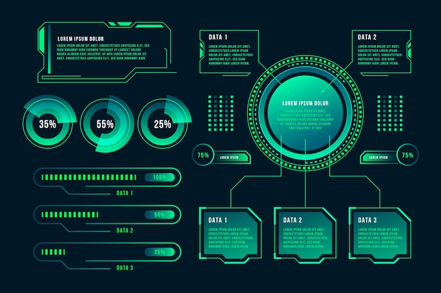 Conceito de infográfico de tecnologia Vetor grátis