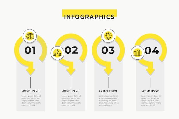 Conceito de infográficos da linha do tempo Vetor grátis