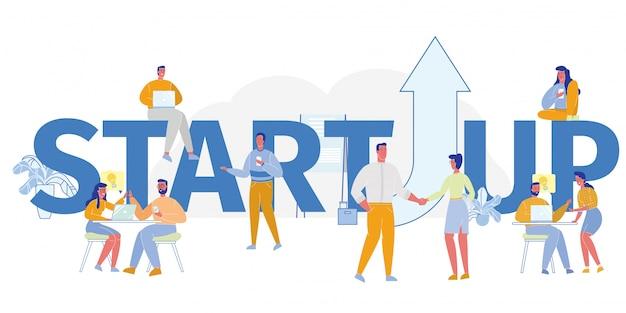 Conceito de inicialização de negócios Vetor Premium