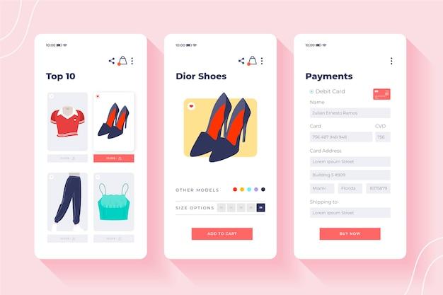 Conceito de interface de compra online Vetor grátis