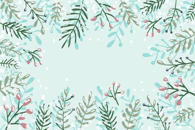 Conceito de inverno em design plano Vetor grátis