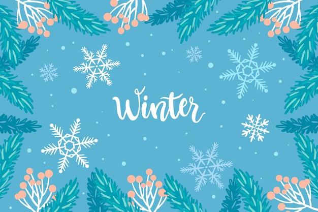Conceito de inverno na mão desenhada Vetor grátis