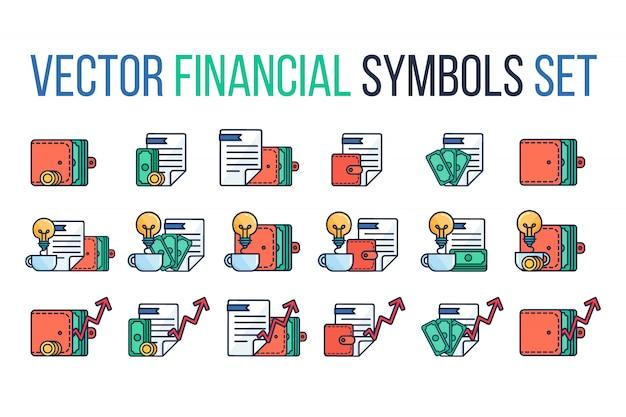 Conceito de investimento bem sucedido. banco segurando. banner do orçamento financeiro. Vetor Premium
