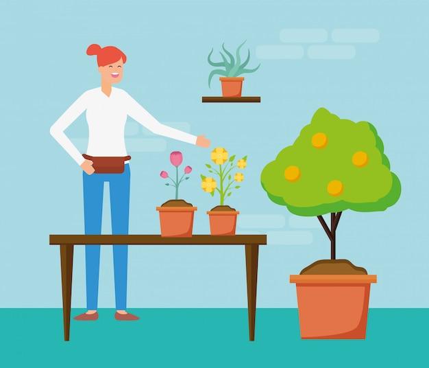 Conceito de jardinagem Vetor grátis
