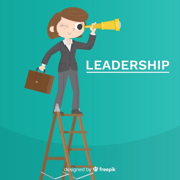 Conceito de liderança em design plano Vetor grátis