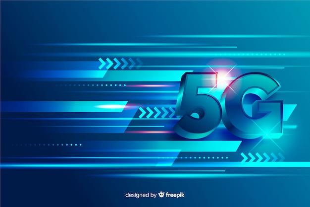 Conceito de linhas de rede de tecnologia 5g Vetor grátis