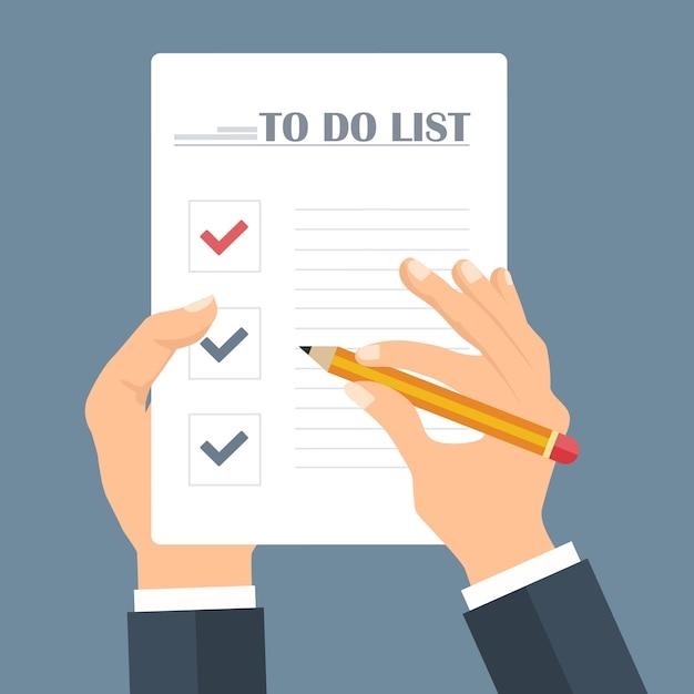 Conceito de lista de tarefas Vetor grátis