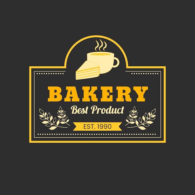 Conceito de logotipo de bolo de padaria Vetor grátis