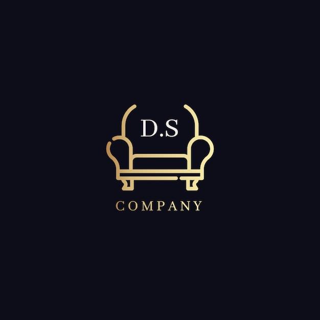 Conceito de logotipo de móveis elegantes Vetor grátis