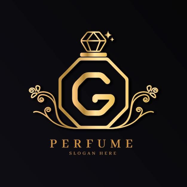 Conceito de logotipo de perfume de luxo Vetor grátis